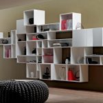 Modern Bookcase on Wall