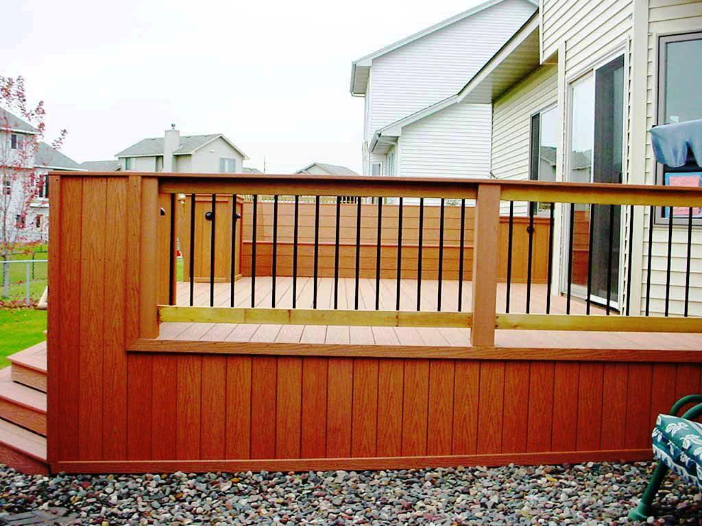 Image of: Modern Deck Railing Code