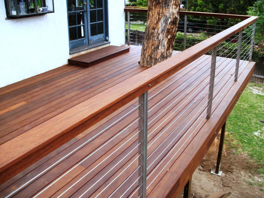 Image of: Modern Deck Railing Height