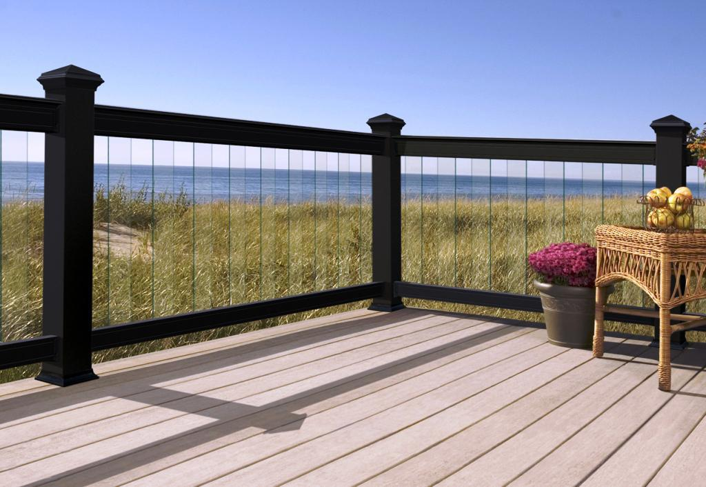 Image of: Modern Deck Railing Systems