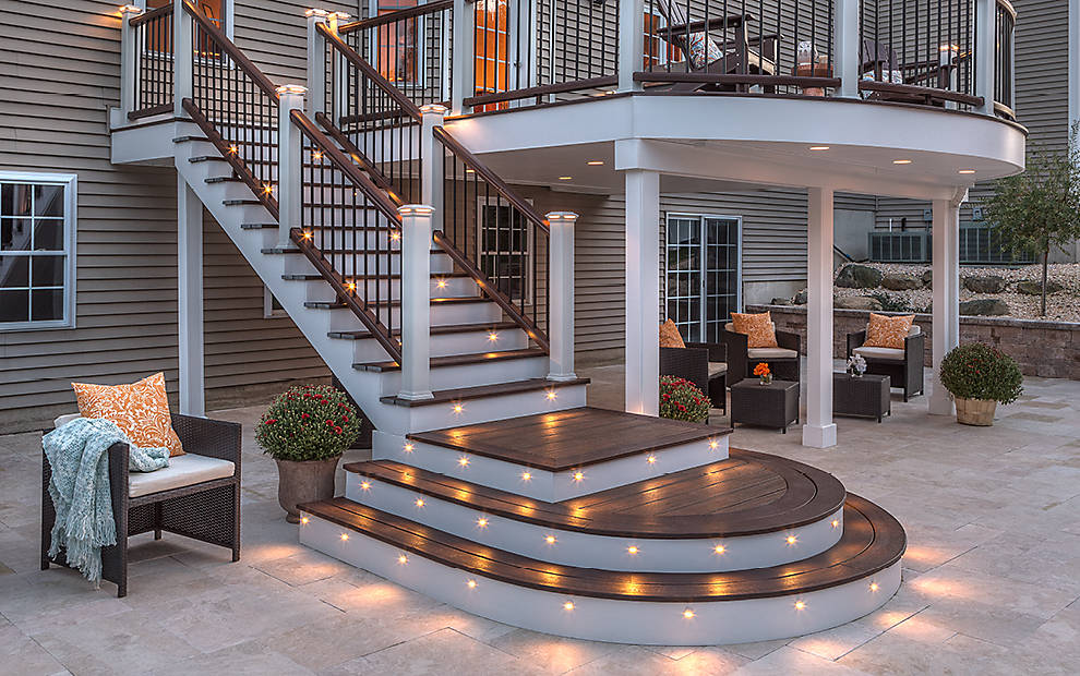 Image of: Modern Deck Stair Lights