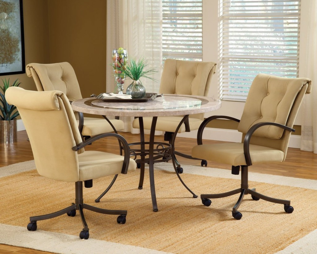 Image of: Modern Dining Room Chairs With Casters