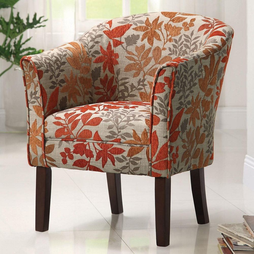 Image of: Modern Floral Accent Chair