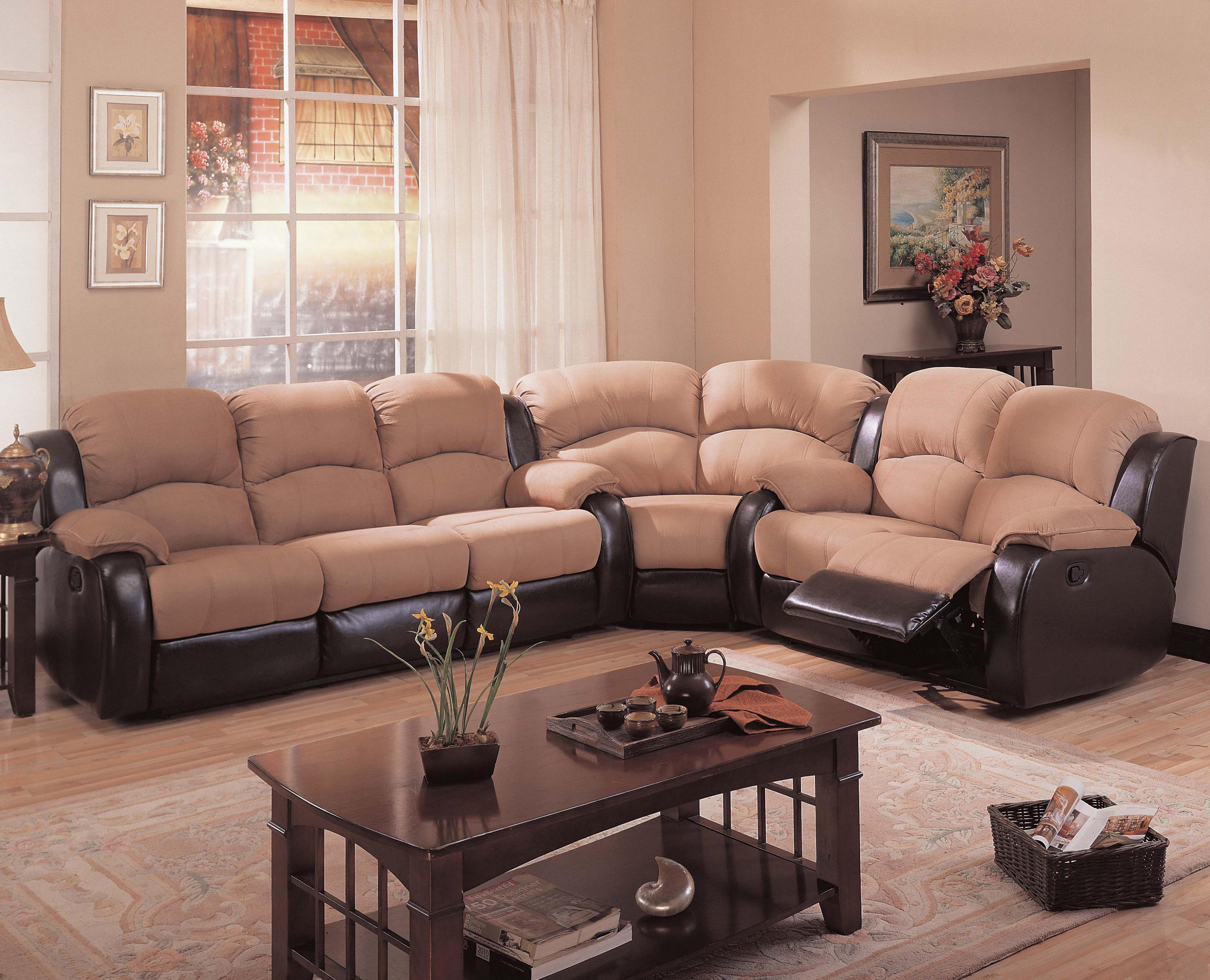 Image of: Modern Microfiber Sectional Couch