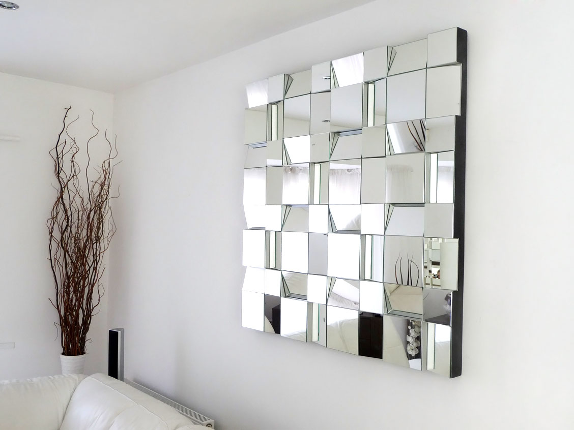 Image of: Modern Mosaic Mirror Wall Decor