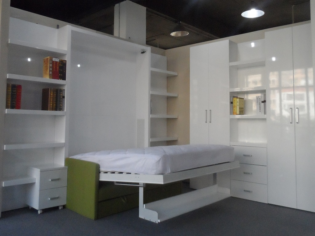 Image of: Modern Murphy Bed With Storage