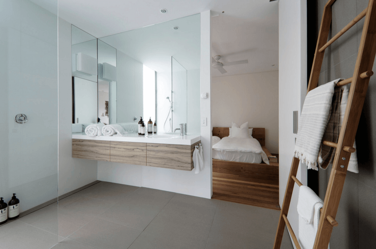 Image of: Modern Small Bathroom Mirrors