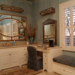 Modern Vanity Table with Mirror and Bench