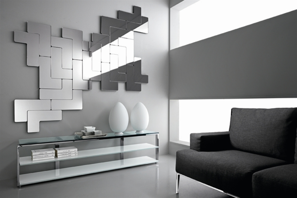 Image of: Modern Wall Mirrors Living