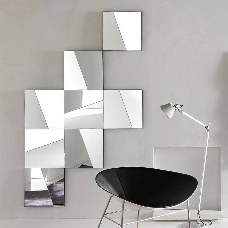 Image of: Modern Wall Mirrors Square