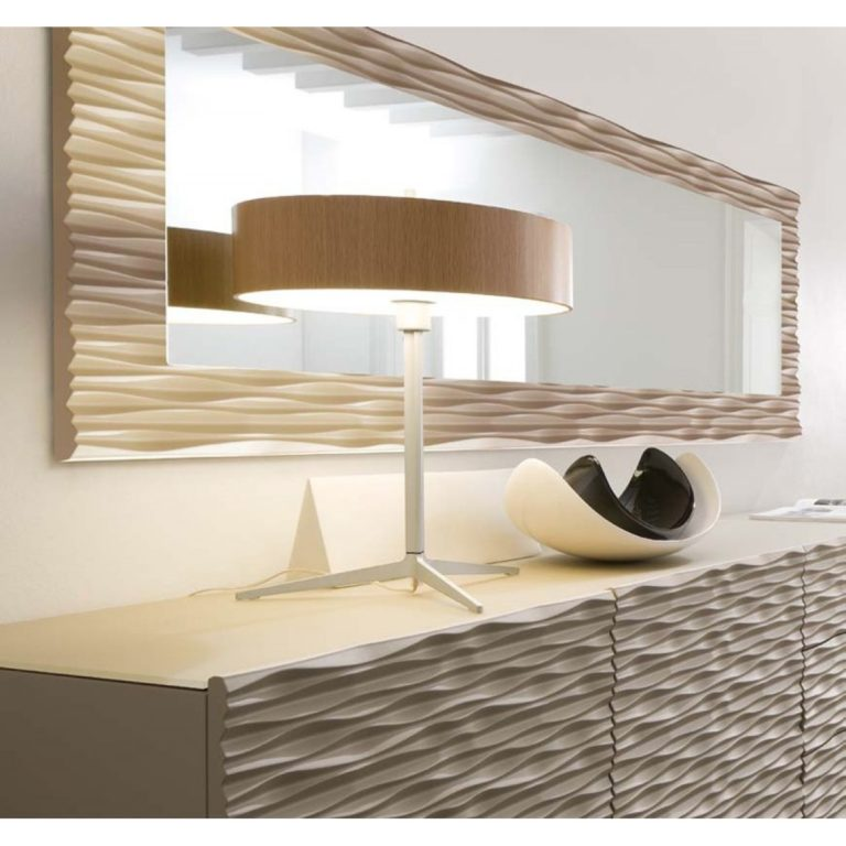 Image of: Modern Wall Mirrors Wood Frame
