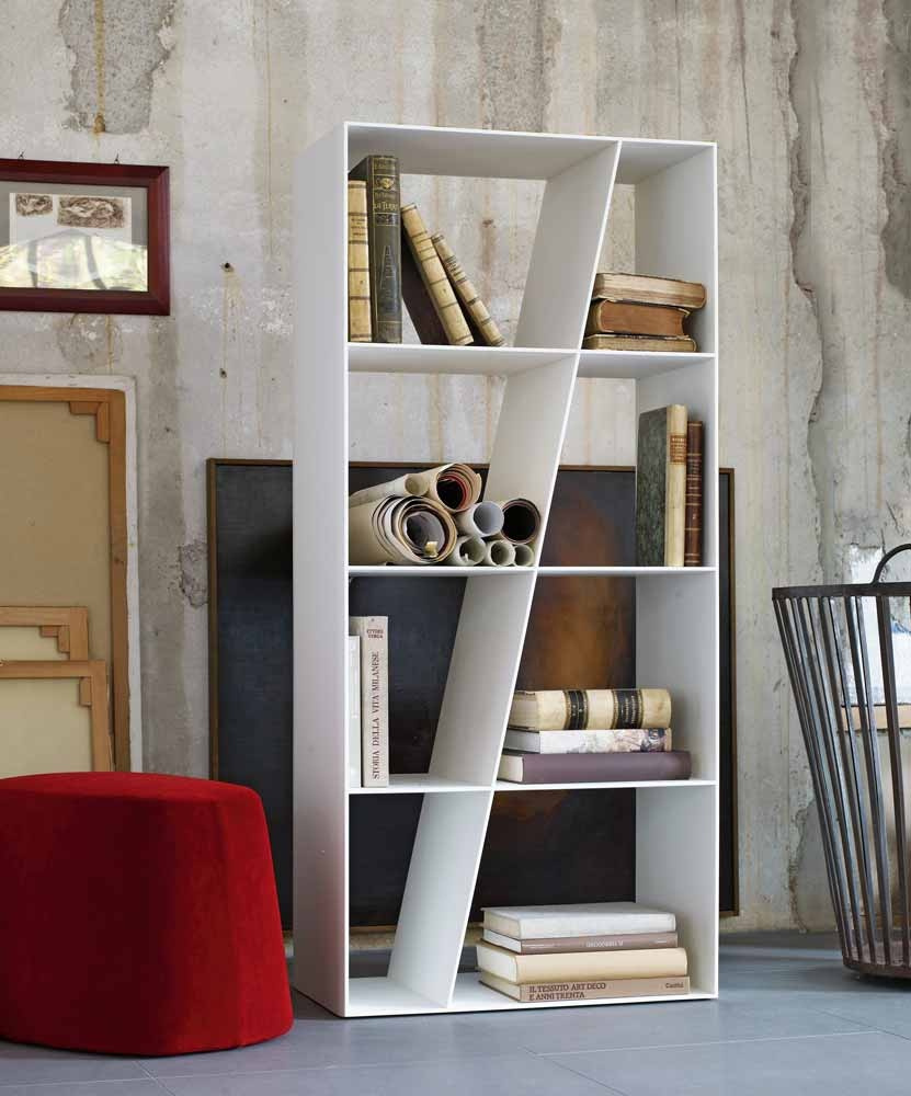 Image of: Modern White Bookcase Designs