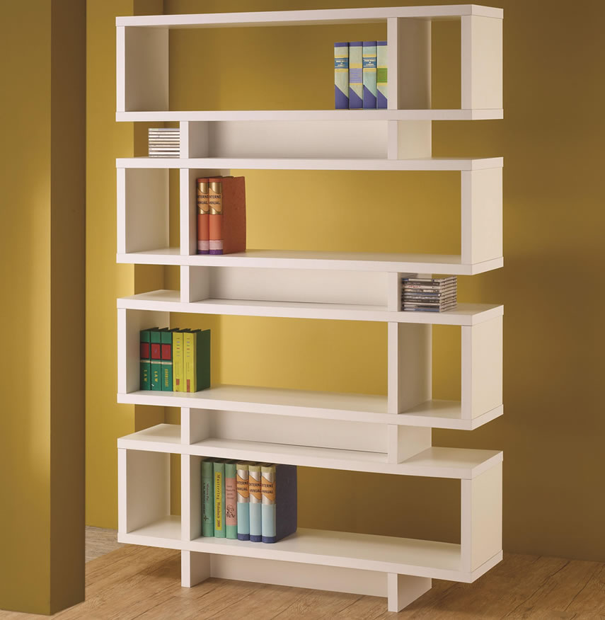 Image of: Modern White Bookcase Furniture