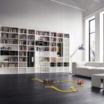 Modern White Bookcase Library