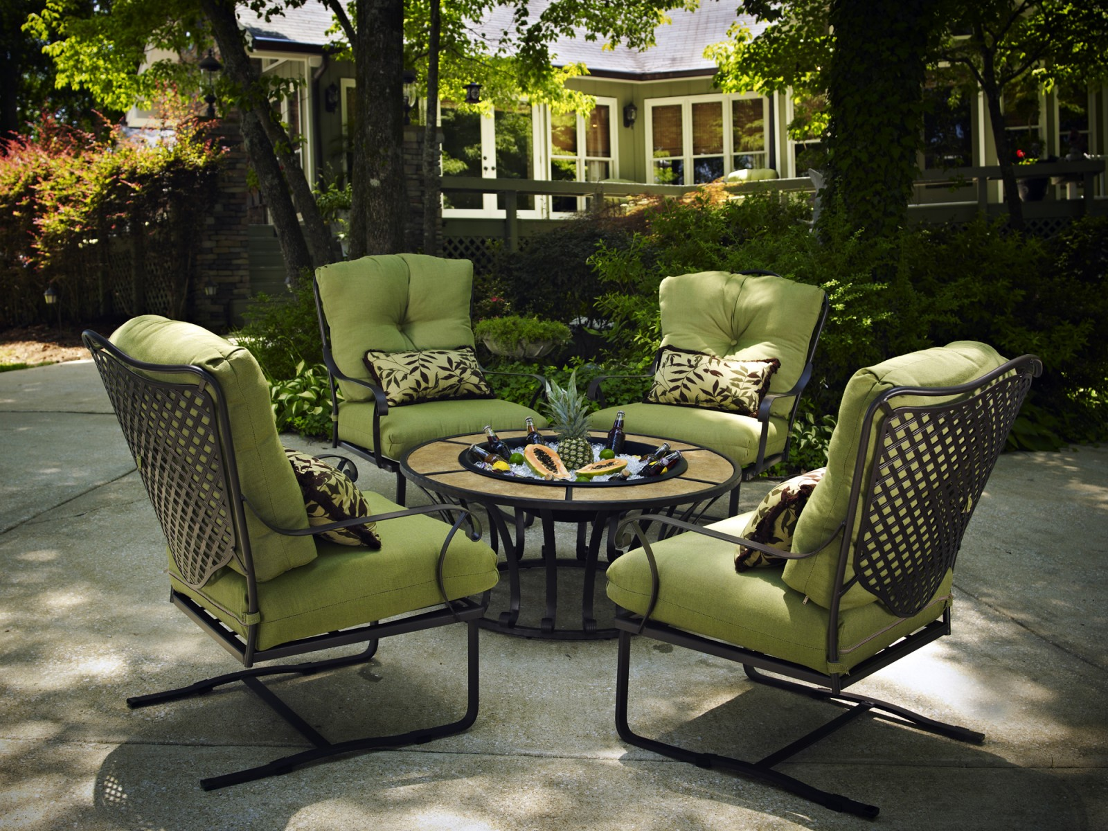 Image of: modern wrought iron chairs