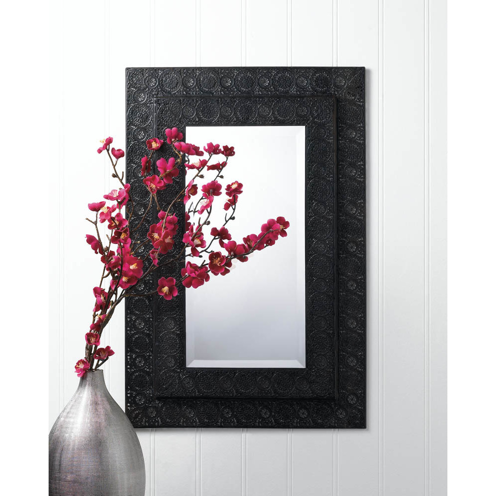 Image of: Moroccan Wall Mirror Black Frame