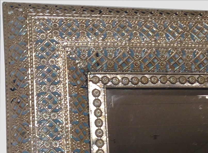 Image of: Moroccan Wall Mirror Frame Metal