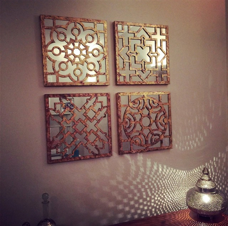 Image of: Moroccan Wall Mirror Sets