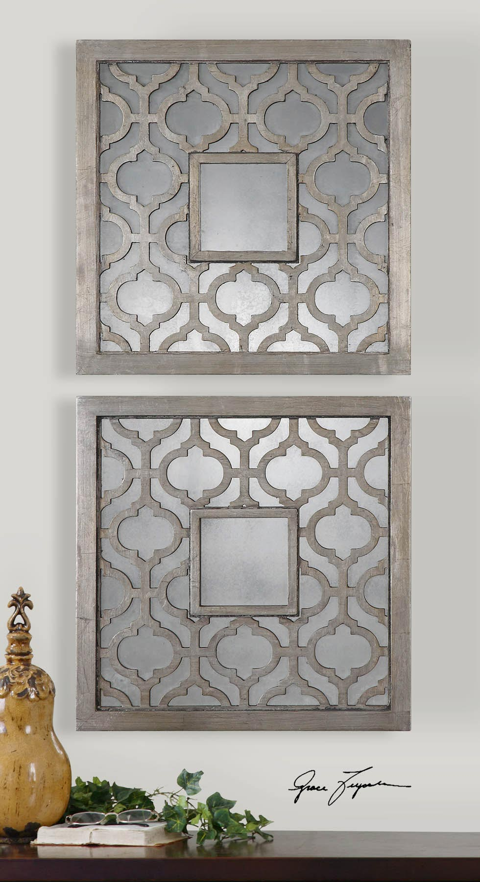 Image of: Moroccan Wall Mirror Square