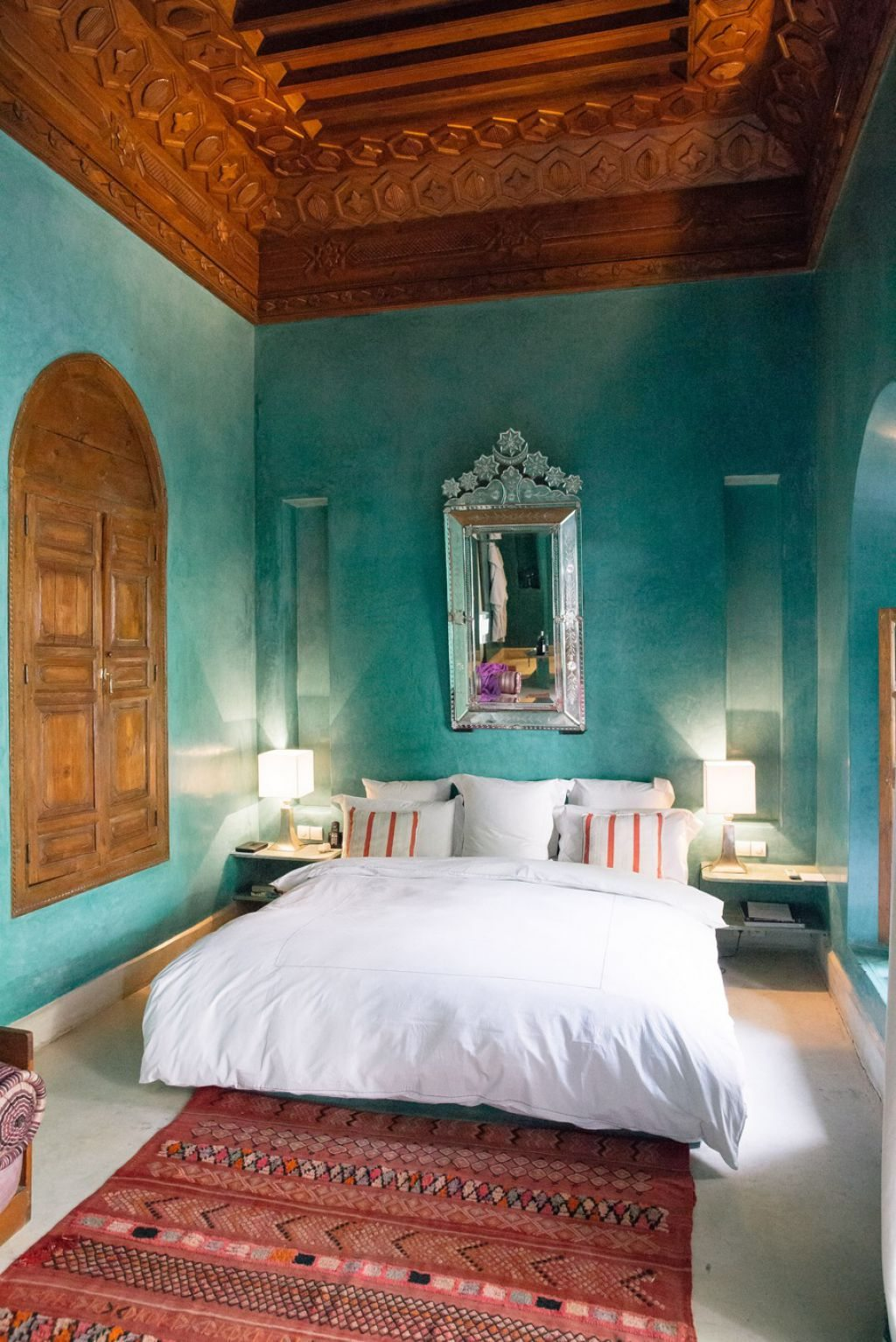 Moroccan Wall Mirror in Bedroom