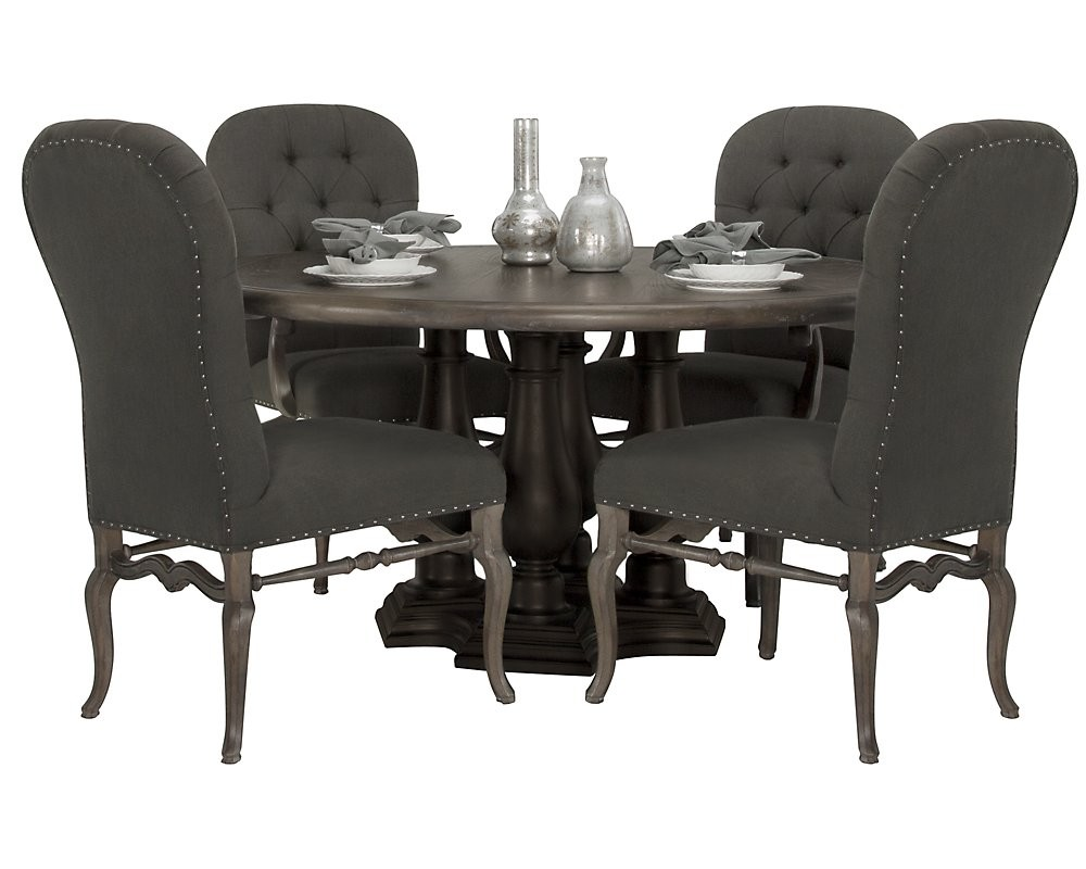 Image of: Nailhead Dining Chair Design