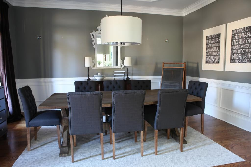 Image of: Nailhead Dining Chair Set
