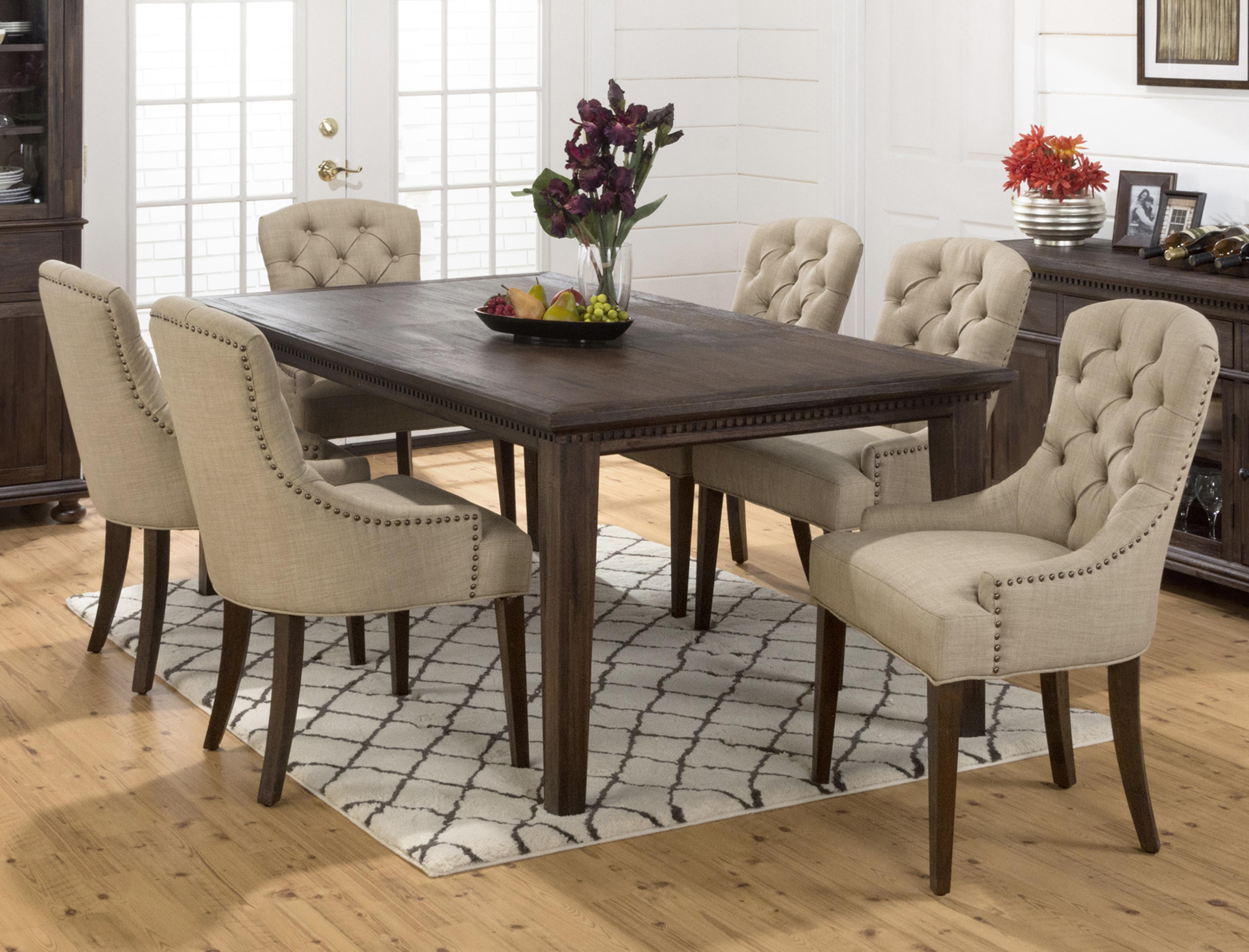 Image of: Nailhead Dining Chair with Table