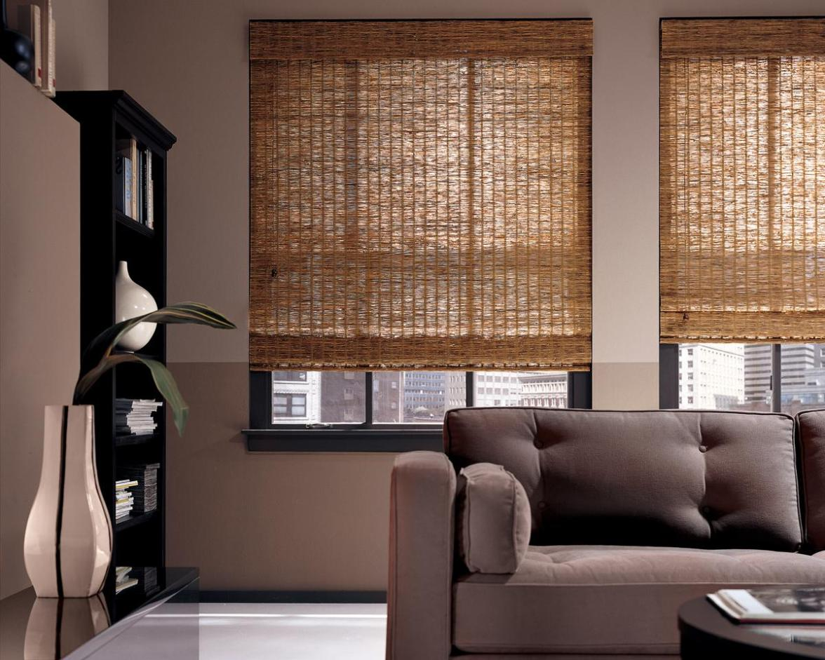 Image of: Natural Bamboo Roman Shades