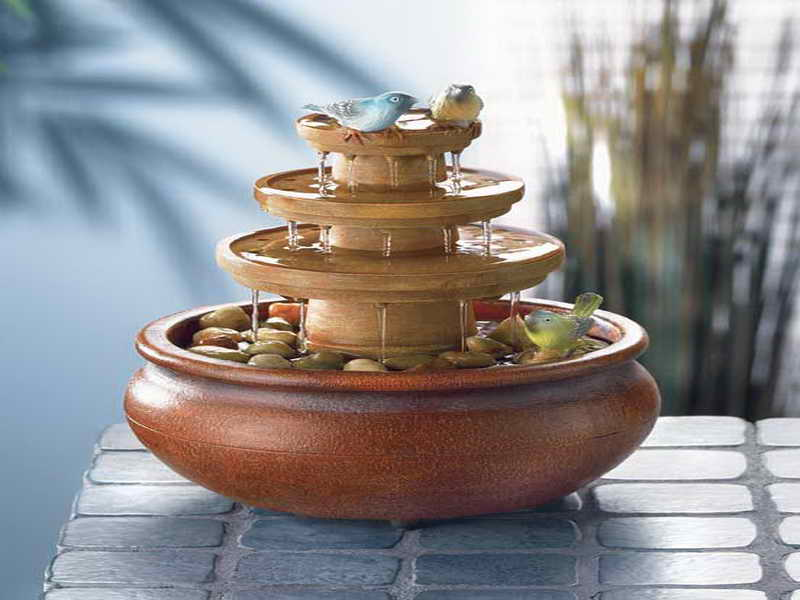 Image of: Nature Tabletop Fountains