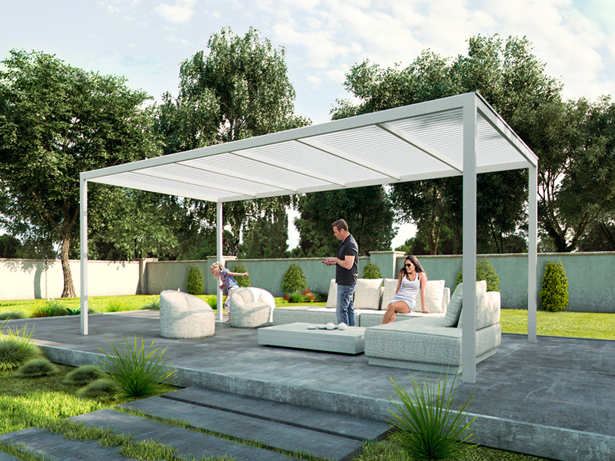 Image of: New Aluminum Pergola Kits