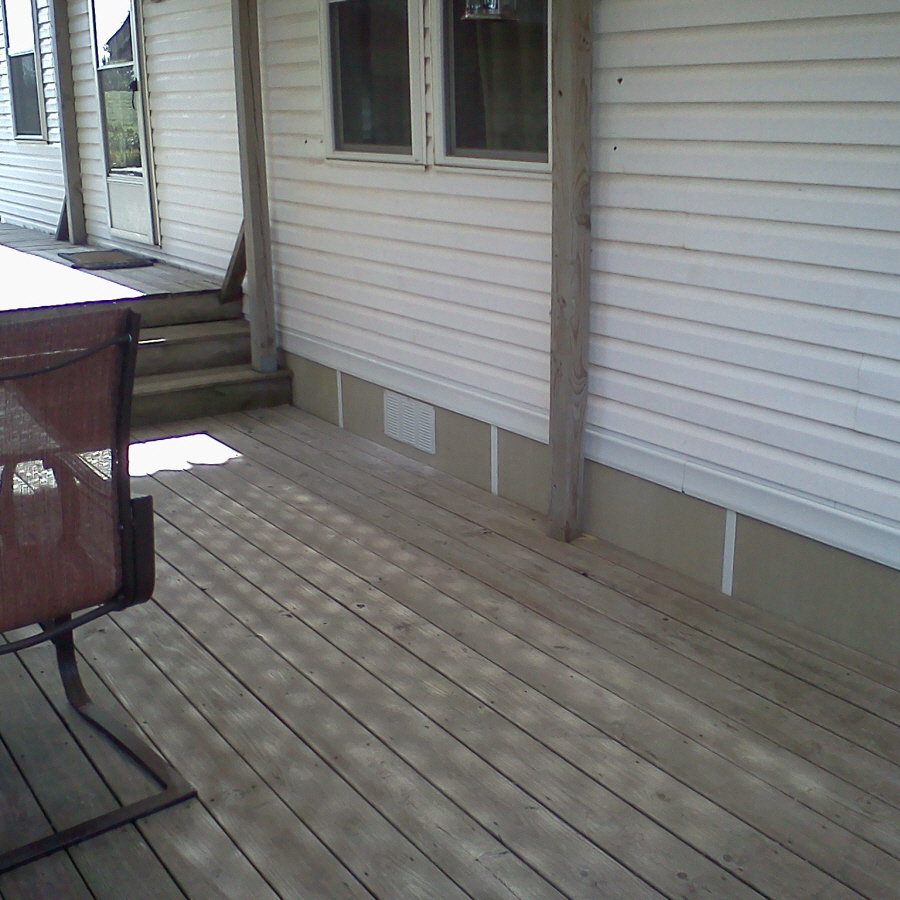 Image of: New Deck Skirting Material