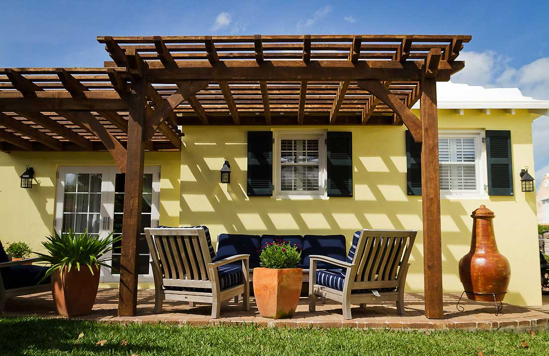 Image of: Nice Attached Pergola Kits