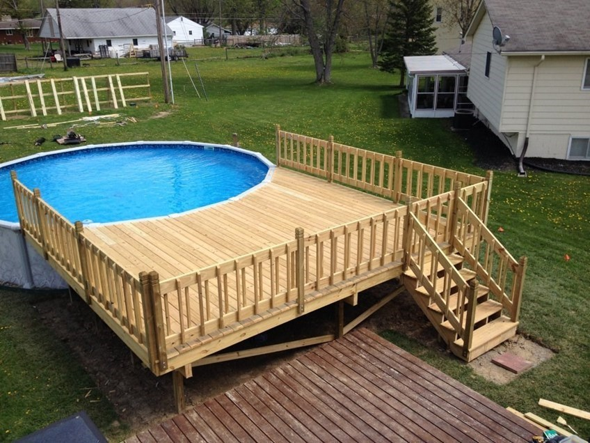 Image of: Nice Pallet Pool Deck