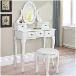 Nice Vanity Table with Mirror and Bench