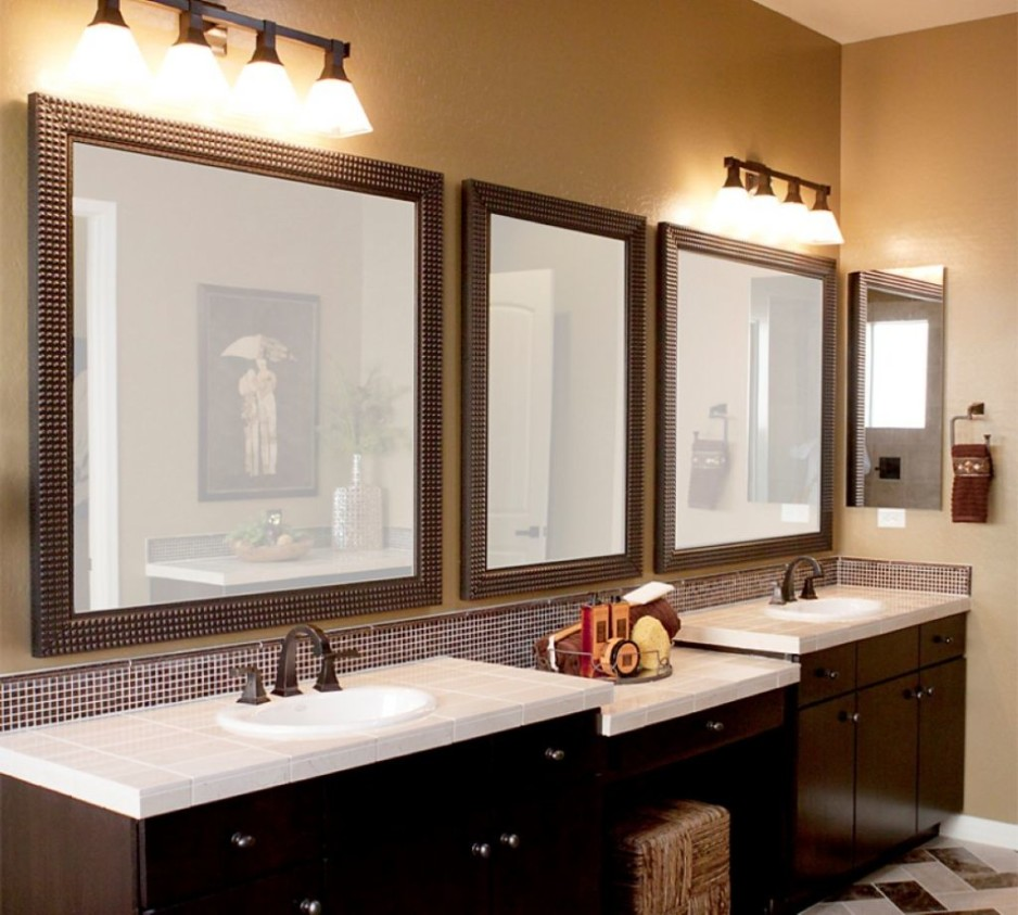 Image of: Oil Rubbed Bronze Mirrors Bathroom Hanging