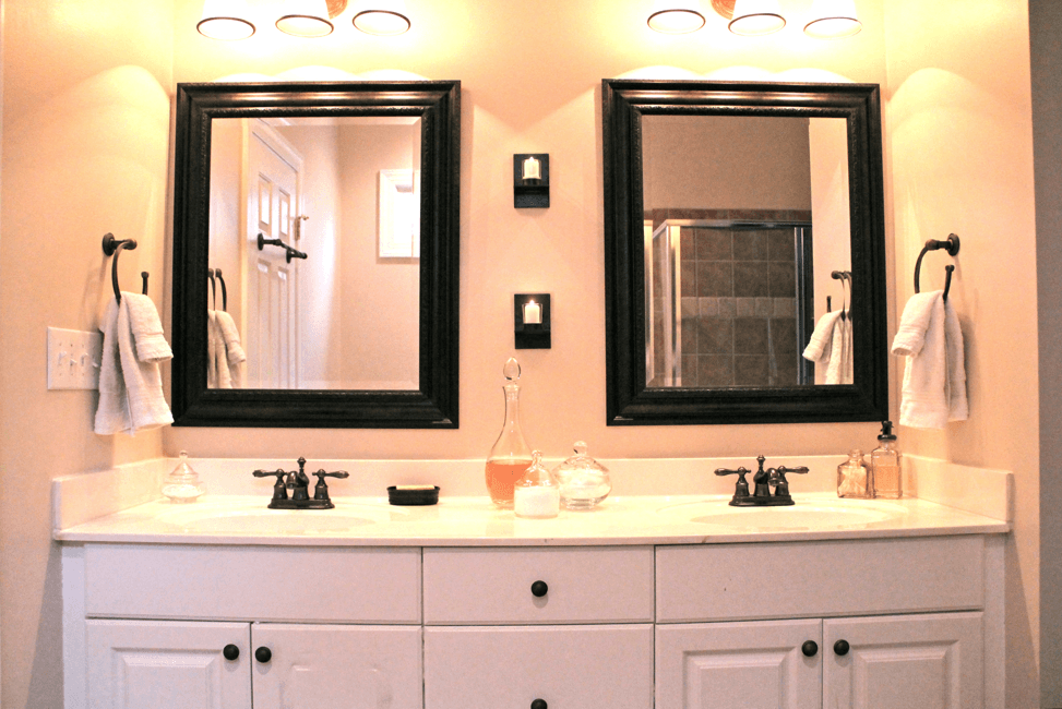Image of: Oil Rubbed Bronze Mirrors Bathroom Square
