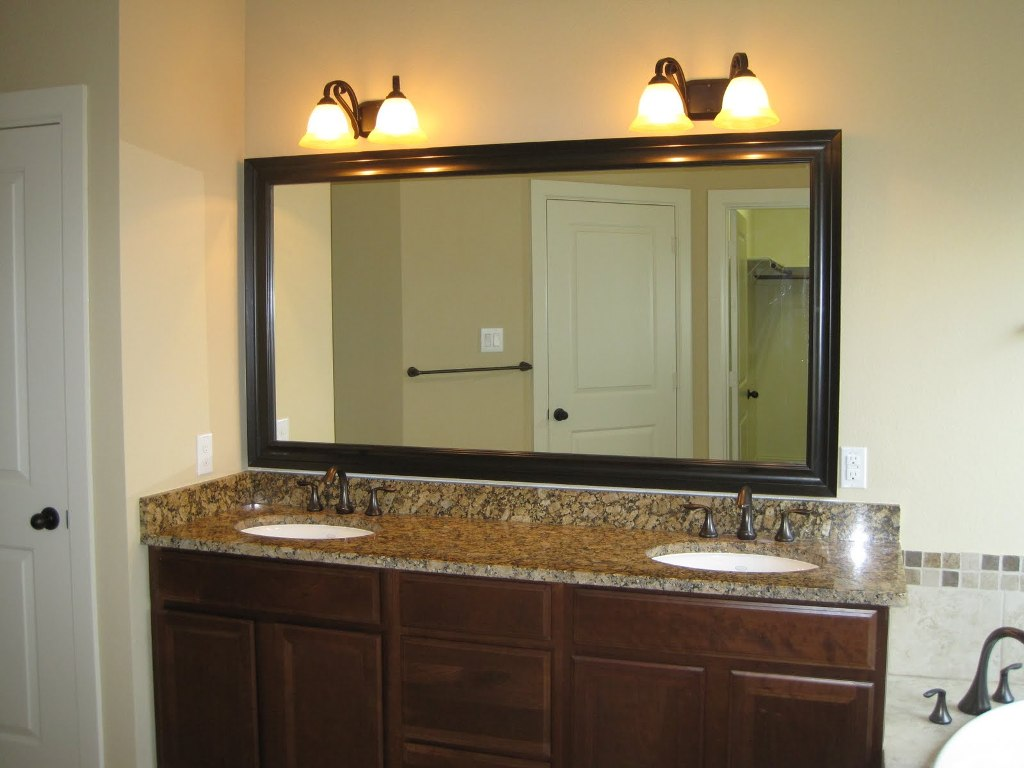 Image of: Oil Rubbed Bronze Mirrors Bathroom Vanity