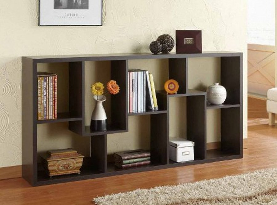 Image of: Open back bookcase with adjustable shelves
