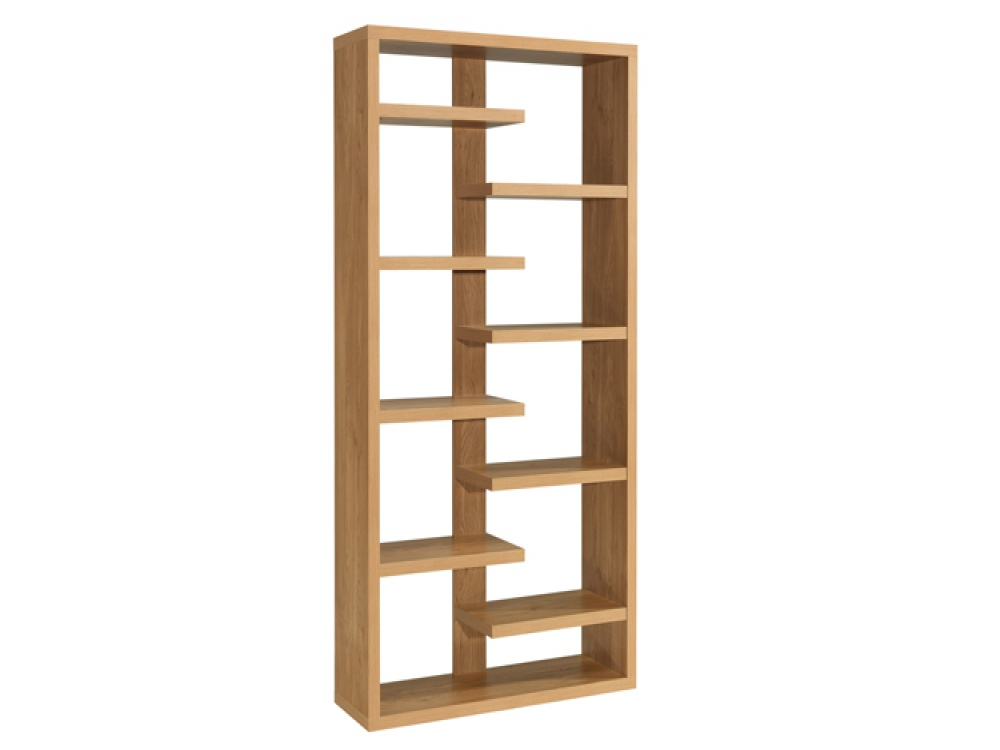 Image of: Open back bookcase with drawers