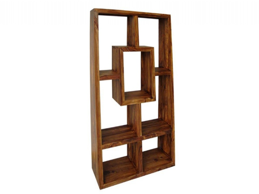 Image of: Open back bookcases wood