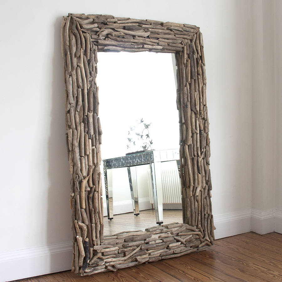 Image of: Original Wood Frame Full Length Mirror