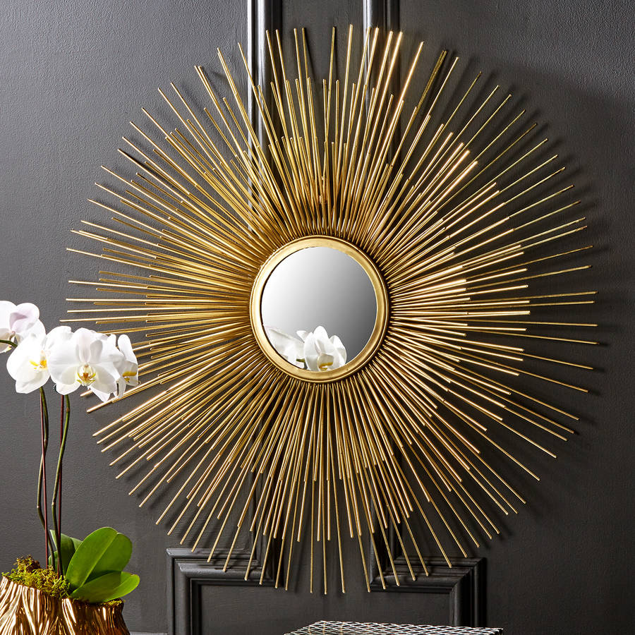 Image of: Orignal Sunburst Wall Mirror