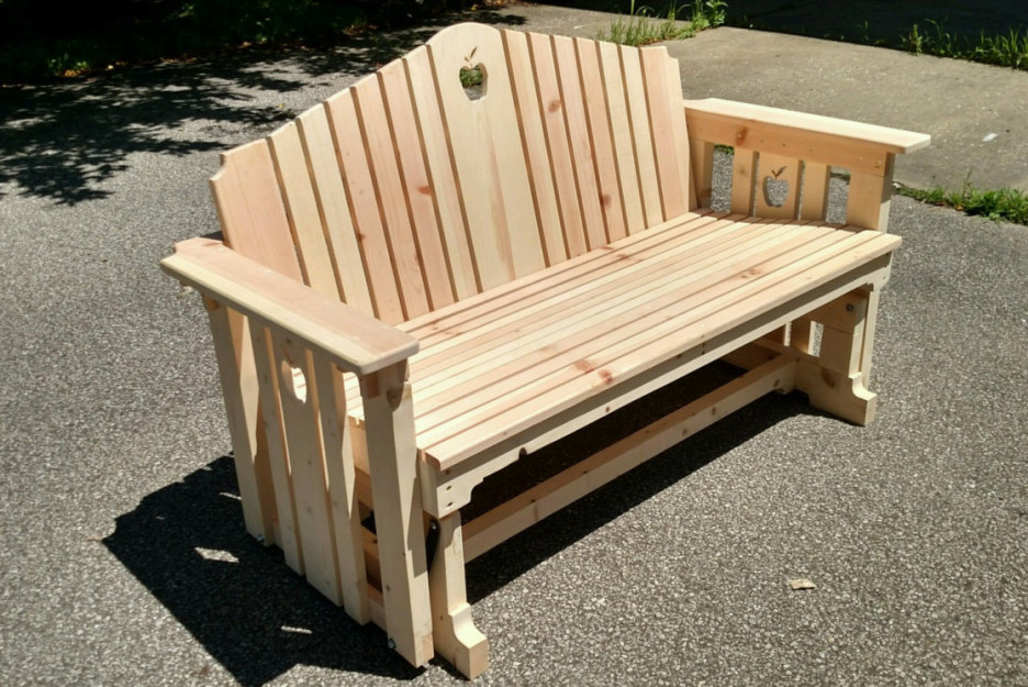 Image of: outdoor glider chair plan