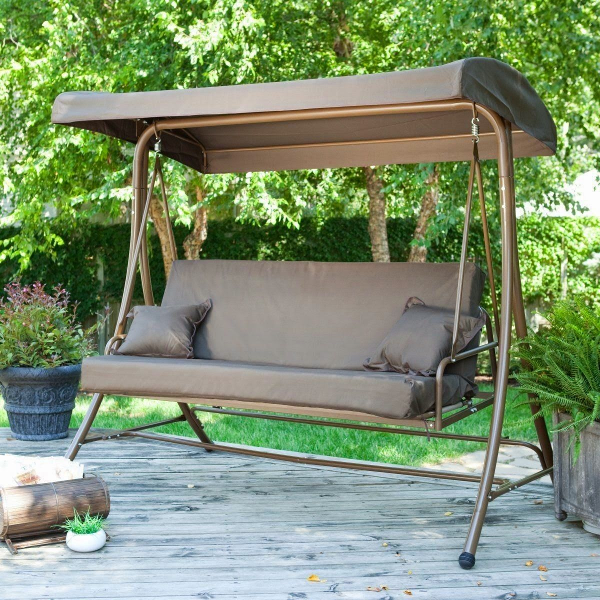 Image of: Outdoor Glider with Canopy Colors