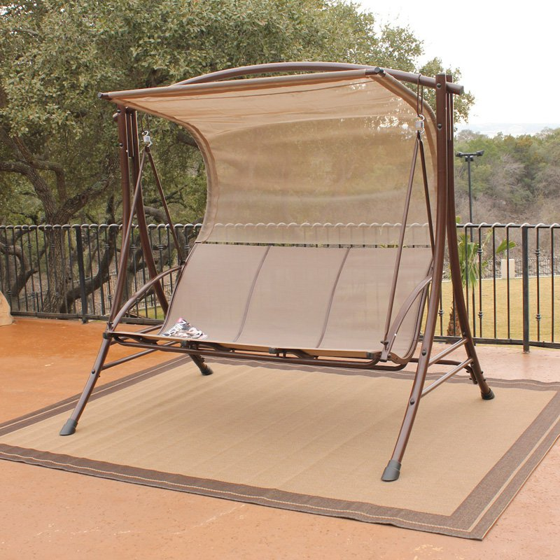 Image of: Outdoor Glider with Canopy Models