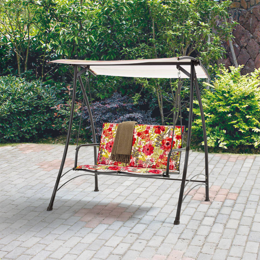 Image of: Outdoor Glider with Canopy Small