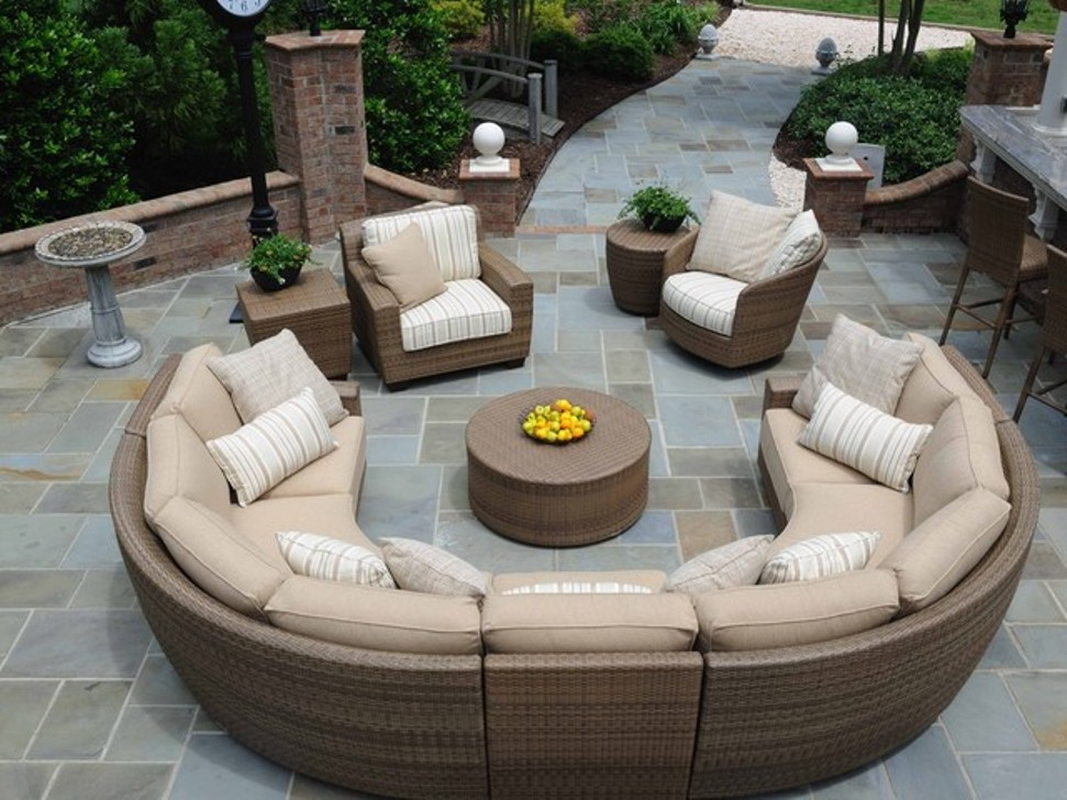 Image of: Outdoor Patio Sectional Cast Aluminum