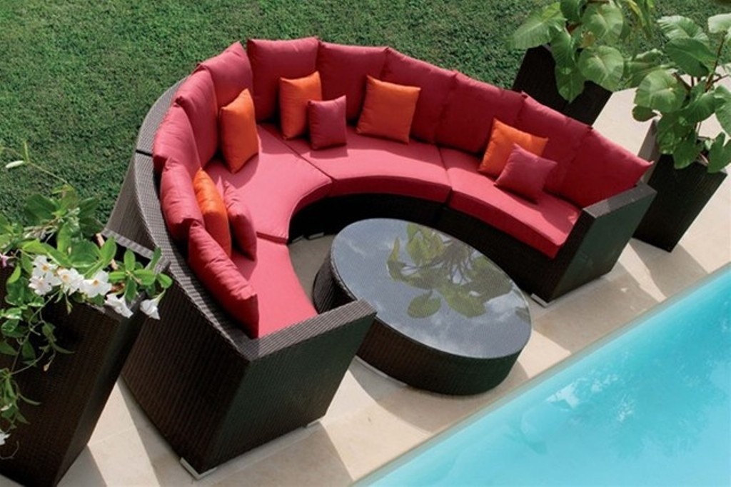 Image of: Outdoor Patio Sectional Furniture Plans