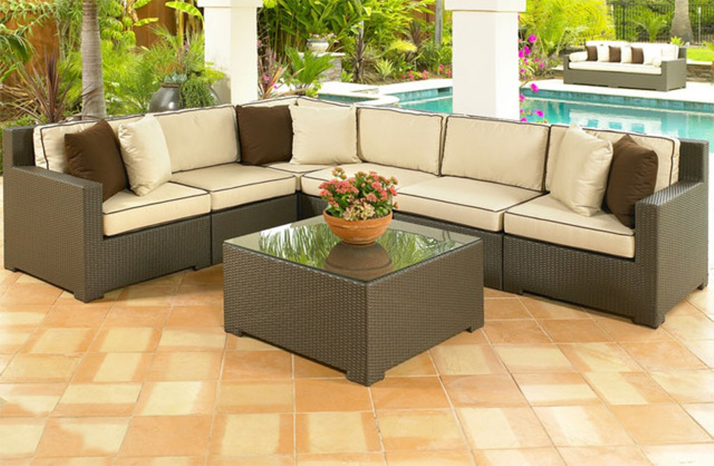Image of: Outdoor Patio Sectional Furniture