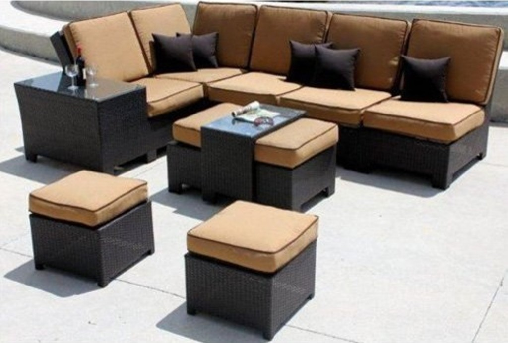 Image of: Outdoor Patio Sectional Sets